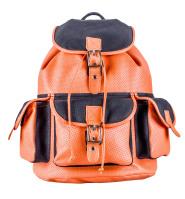 Рюкзак ручной работы из перфорированной кожи