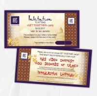 Приглашение-лотерейный билет на корпоратив