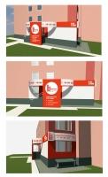 Оформление входа в офис. ArchiCad