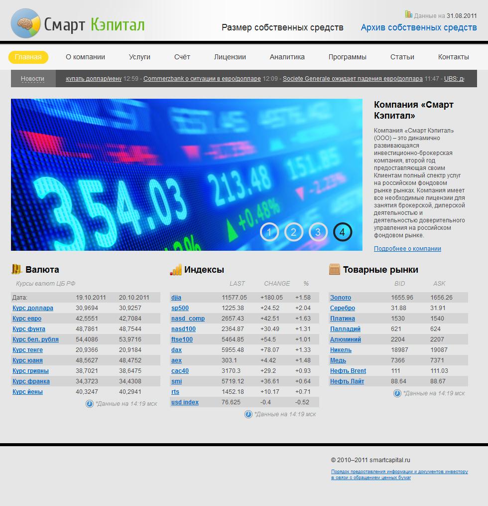 Смарт Кэпитал - инвестиционно-брокерская компания