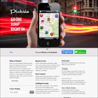 Picksie - сайт приложение для iphone