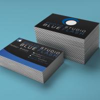 "Визитка/Логотип фотостудии ""BLUE FLASH"""