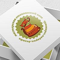 """Логотип и фирстиль мастерская """"Стеклянный кот"""""""