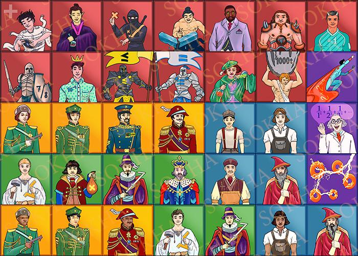 Иллюстрации персонажей для приложения