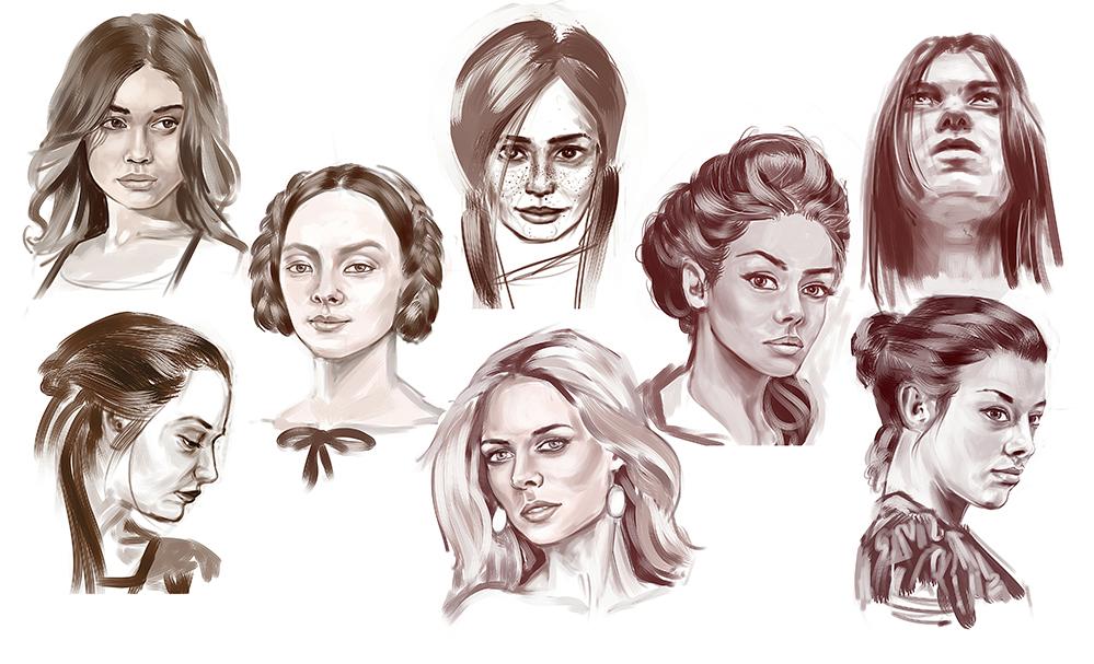 Портреты (наброски)