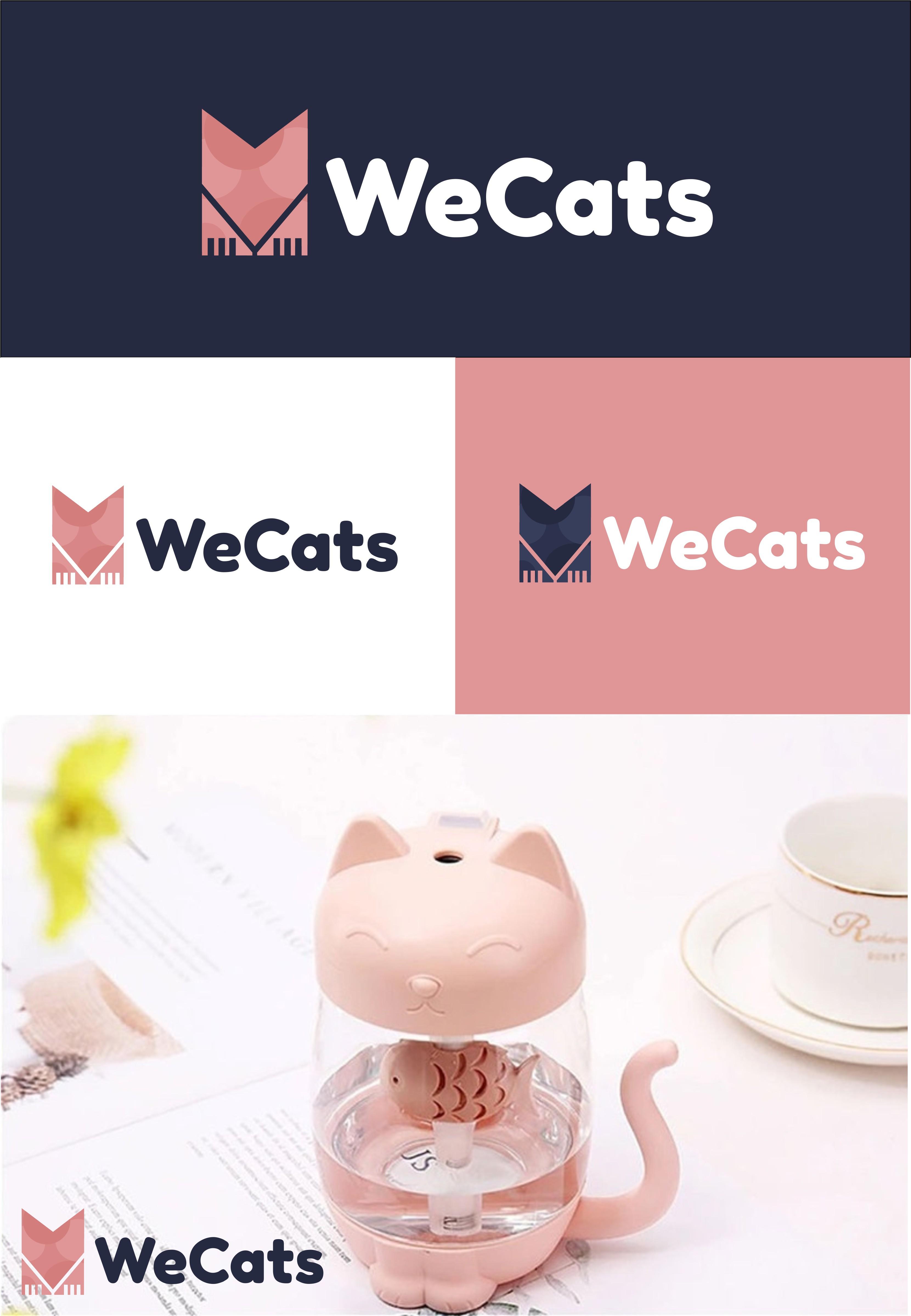 Создание логотипа WeCats фото f_1145f1987856cdbe.jpg