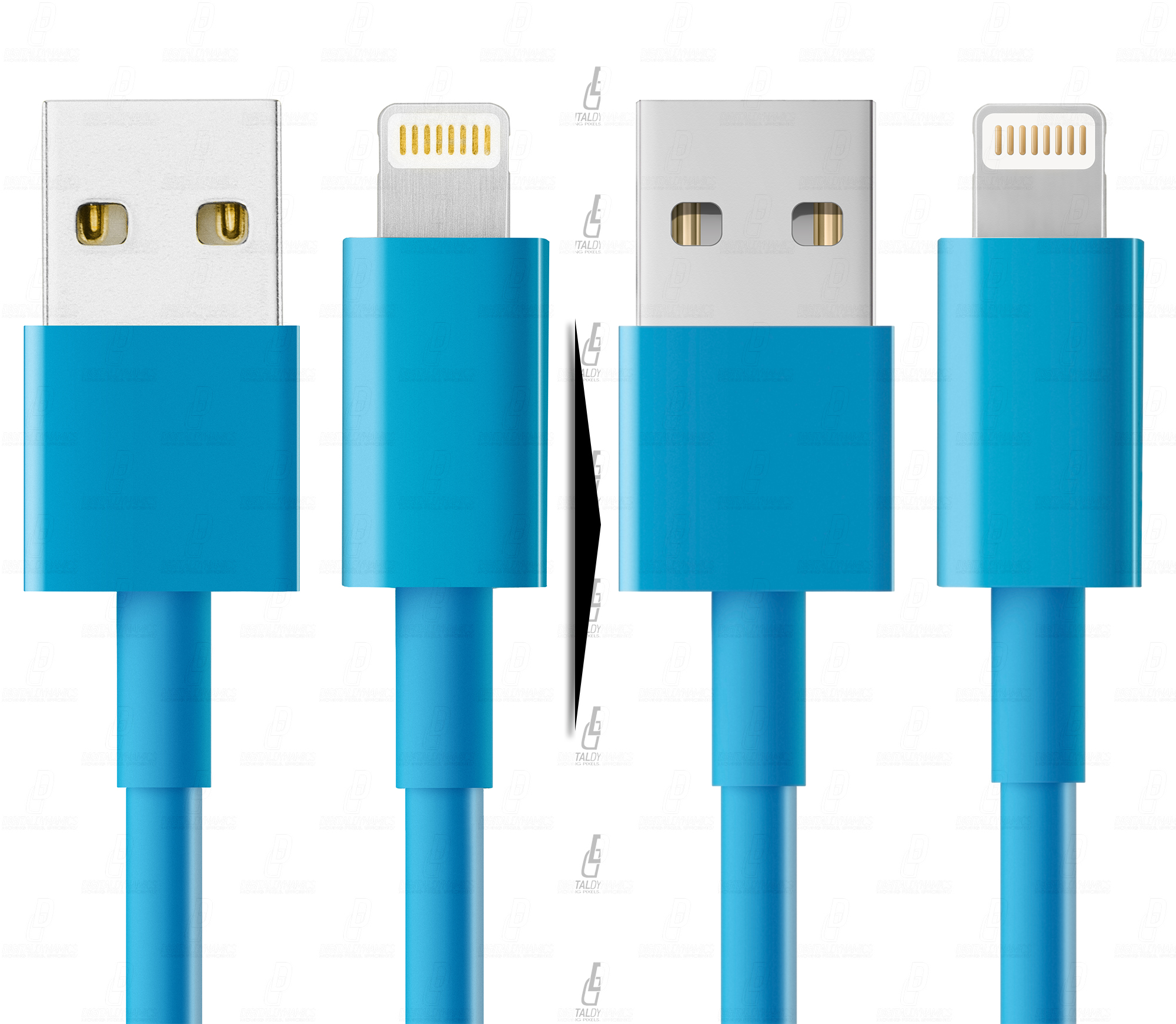 Обработка/дорисовка/замена цвета фото usb-кабелей для размещения на упаковке