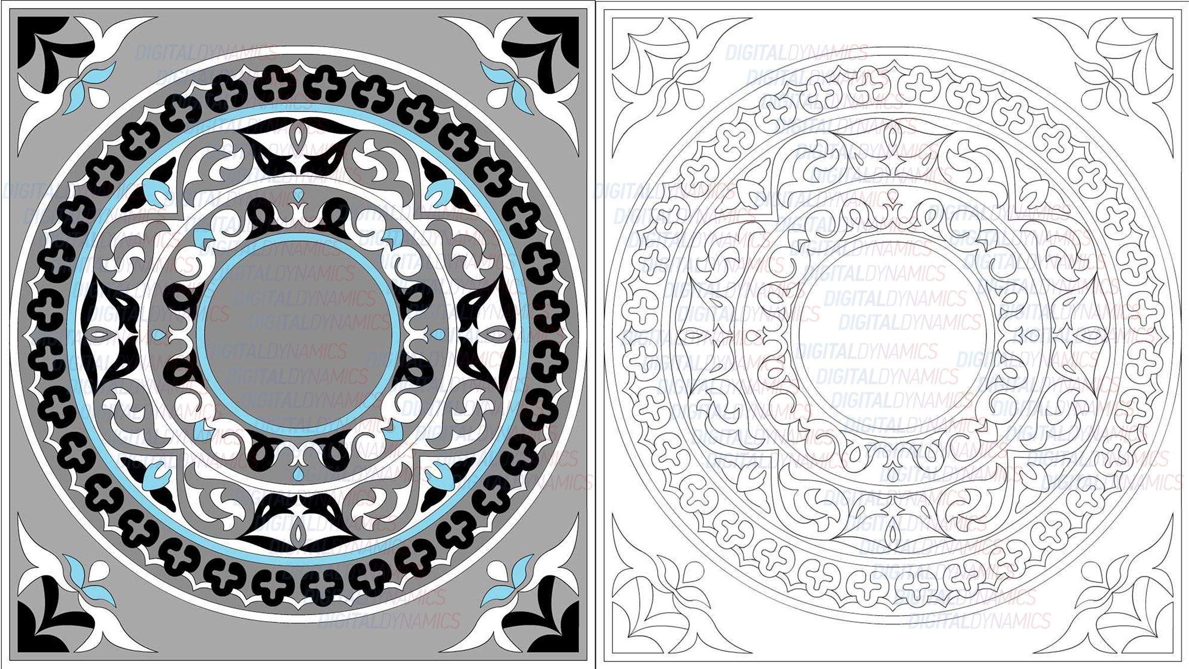 Мраморная мозаика AutoCAD