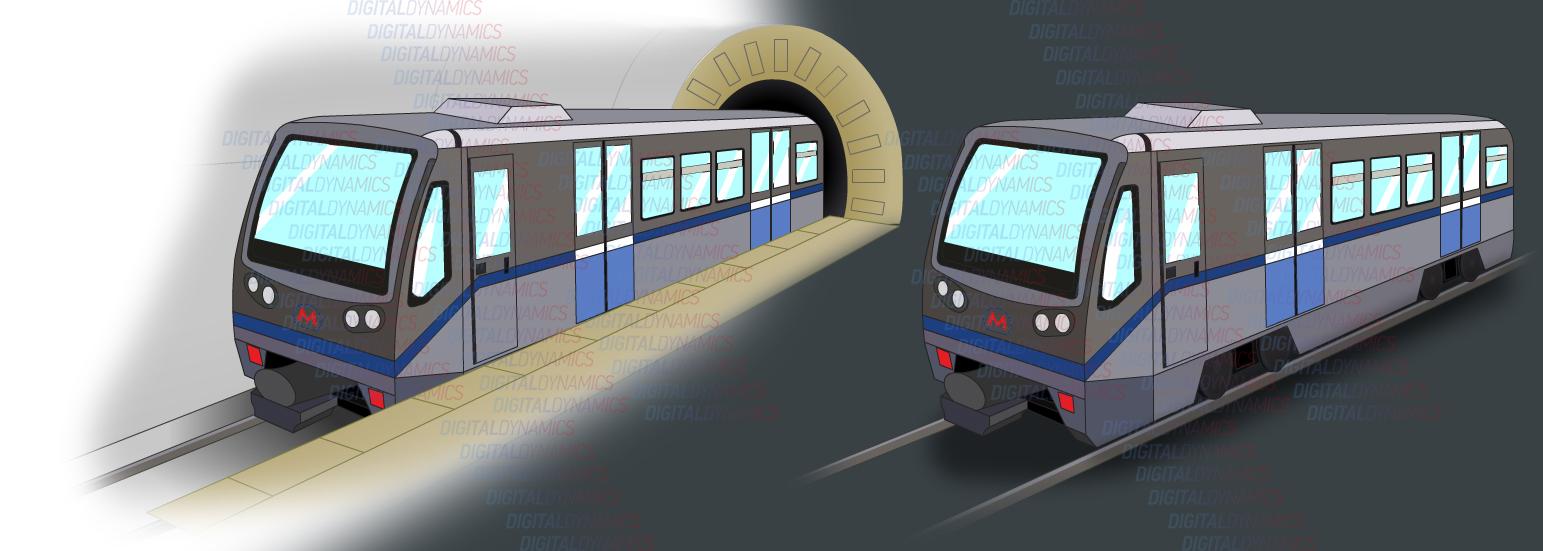 Вагон московского метро (вектор)