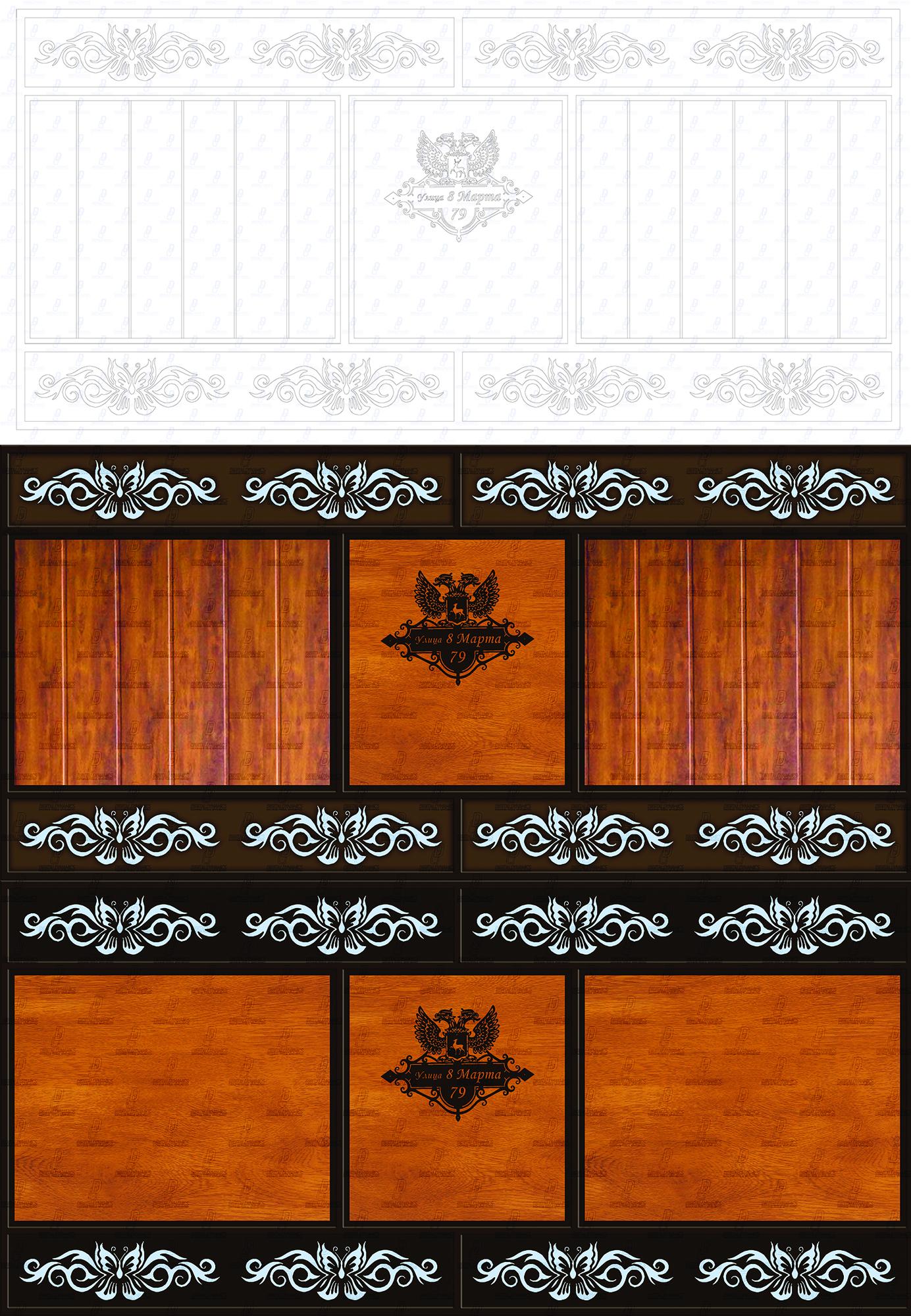 Визуализация дизайна ворот по чертежу