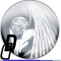 Рисунок ангела для надгробной плиты
