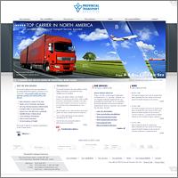 Дизайна сайта для Provincial Transport
