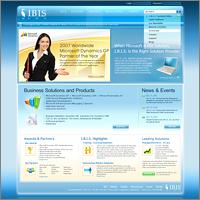 Дизайна сайта для компании I.B.I.S.
