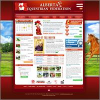 Дизайн сайта для Alberta Equestrian
