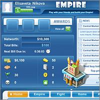 Интерфейс социальной игры Empire