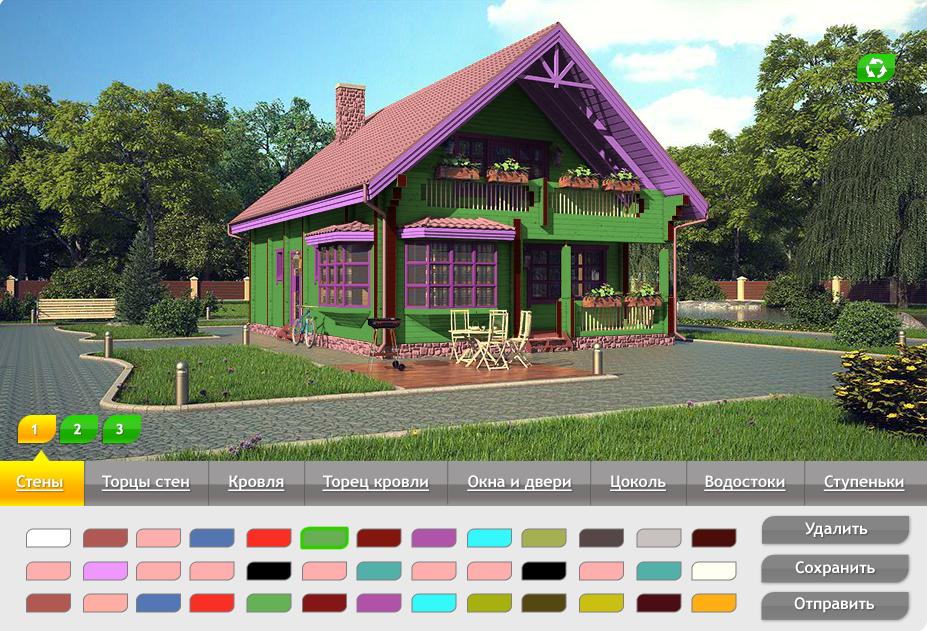 Подбор цветов для дачного дома (редизайн)