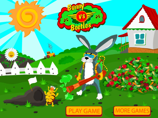 Игра Bunny vs Beetles