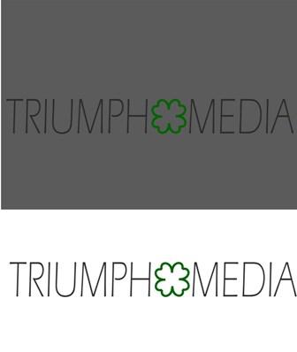 Разработка логотипа  TRIUMPH MEDIA с изображением клевера фото f_5072a1e803352.jpg