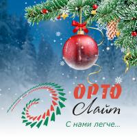 Баннер-поздравление сайта компании ORTO-Лайт