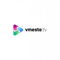 "Логотип для сайта ""vmeste.tv"""