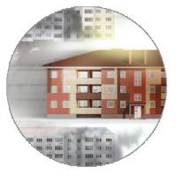 Креативная концепция и рекламный принт для жилого комплекса