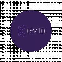 Логотип E-vita (1 место в конкурсе)