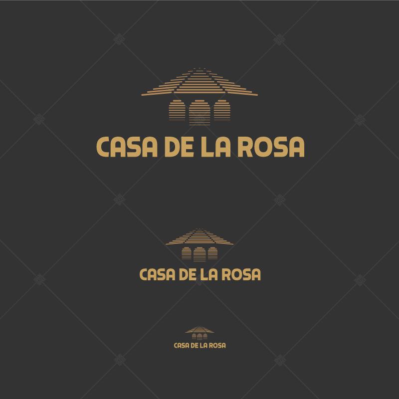 Логотип + Фирменный знак для элитного поселка Casa De La Rosa фото f_4455cd2db11bed8a.jpg