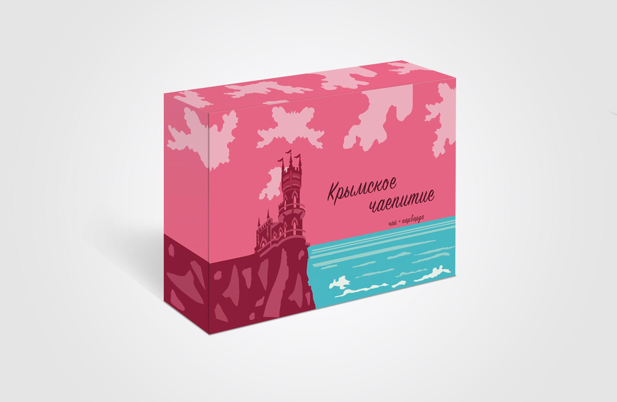 Дизайн коробки сувенирной  чай+парварда (подарочный набор) фото f_0645a539a956d778.jpg