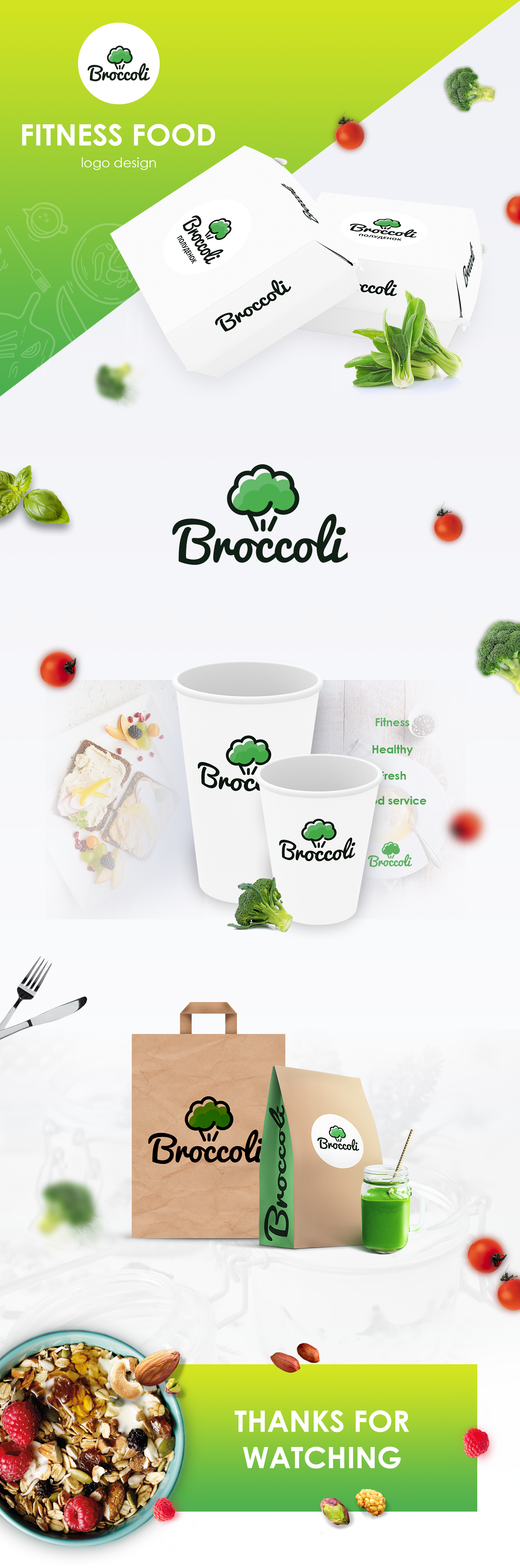 Logo and package design for Food delivery company.