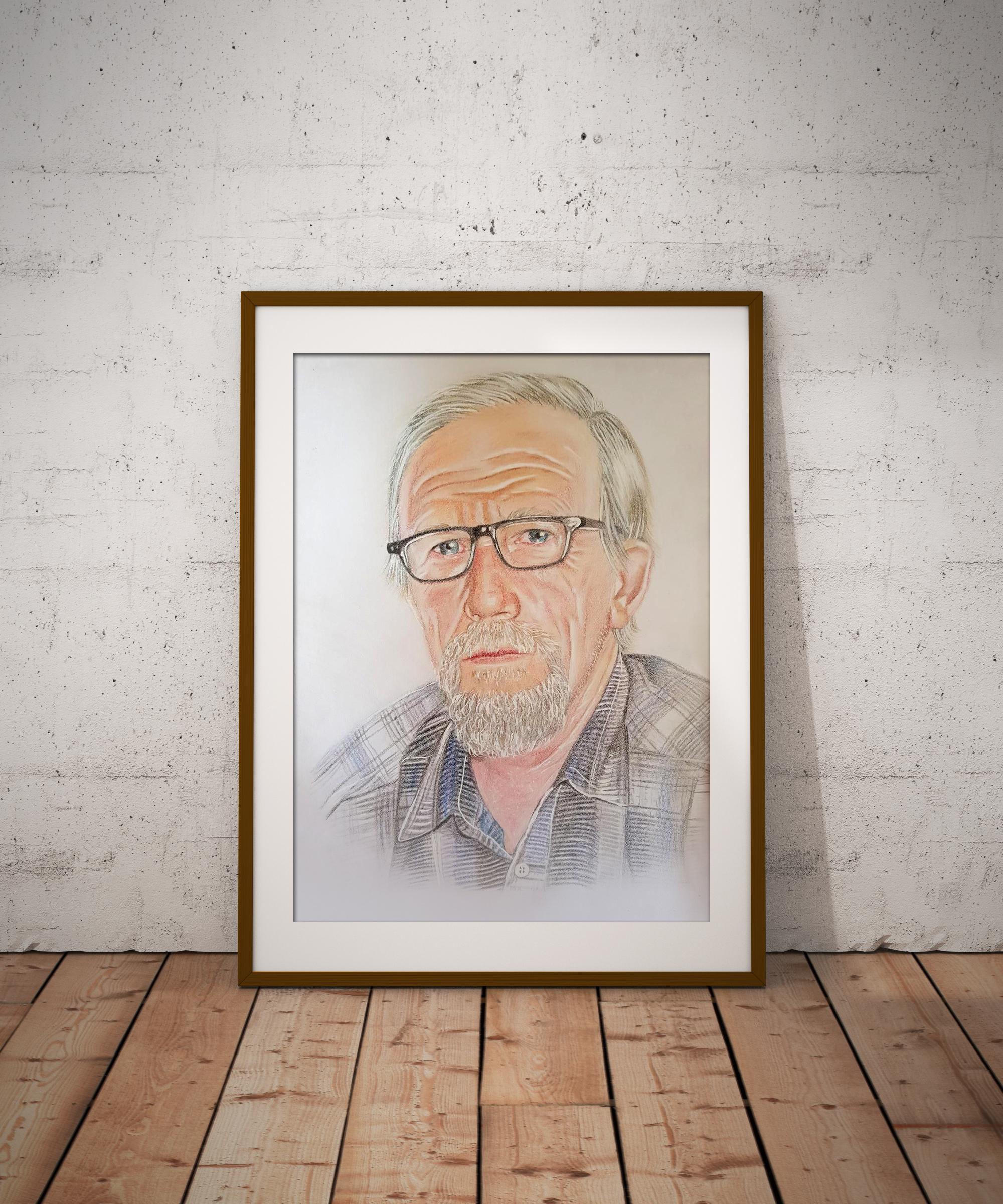Портреты на заказ в технике пастель и цветные карандаши