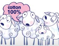 """серия персонажей """"Сонные овечки"""" для упаковки постельного белья для малышей"""