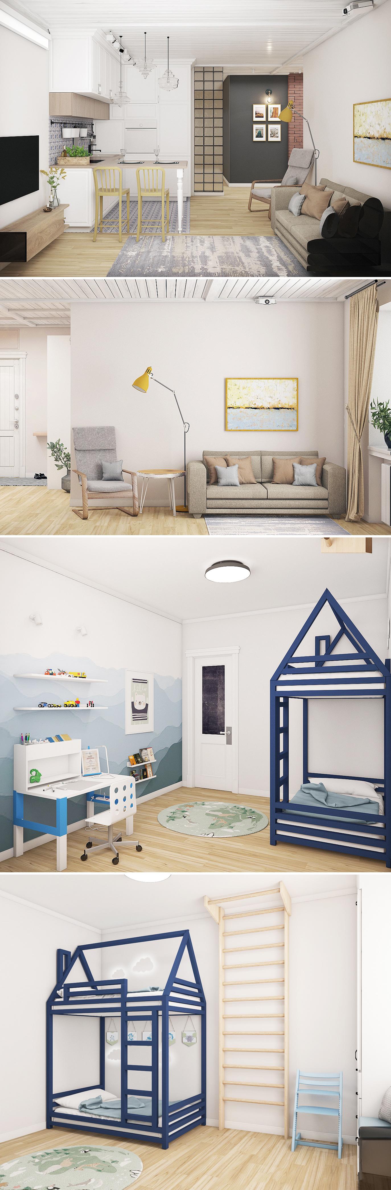 Квартира в скандинавском стиле (Сургут)