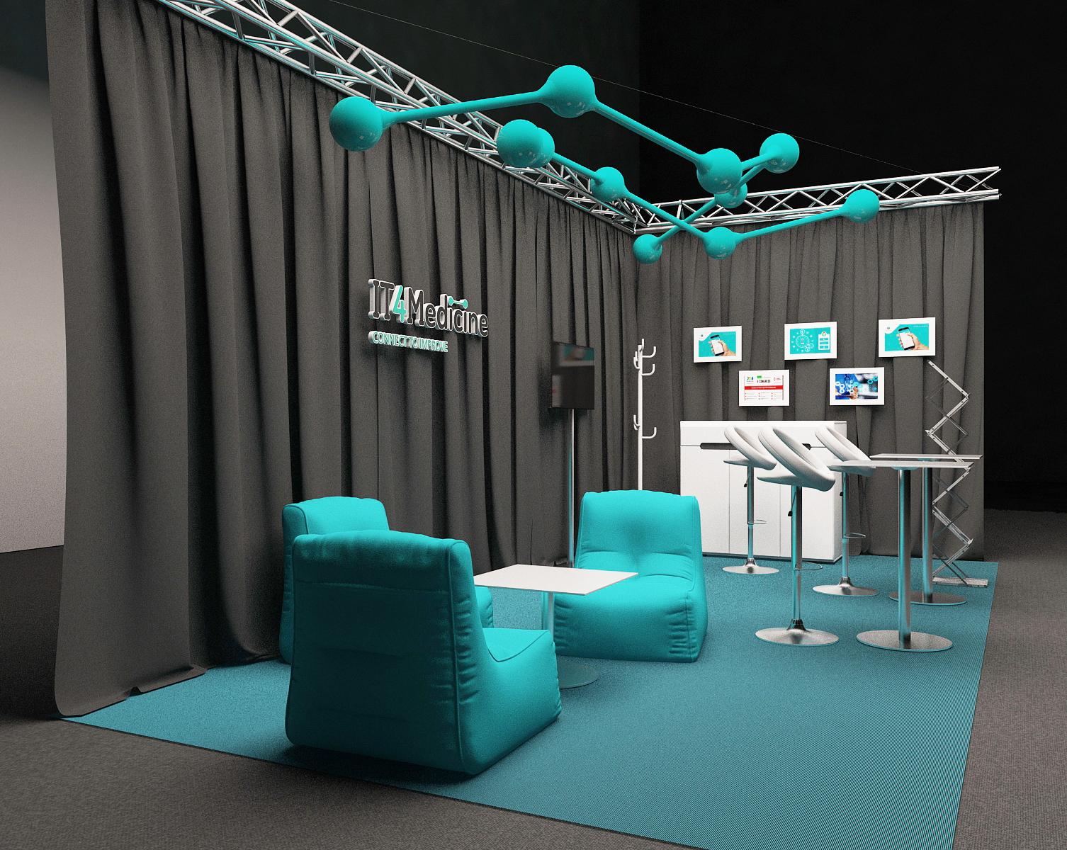 Дизайн выставочного стенда IT4Med