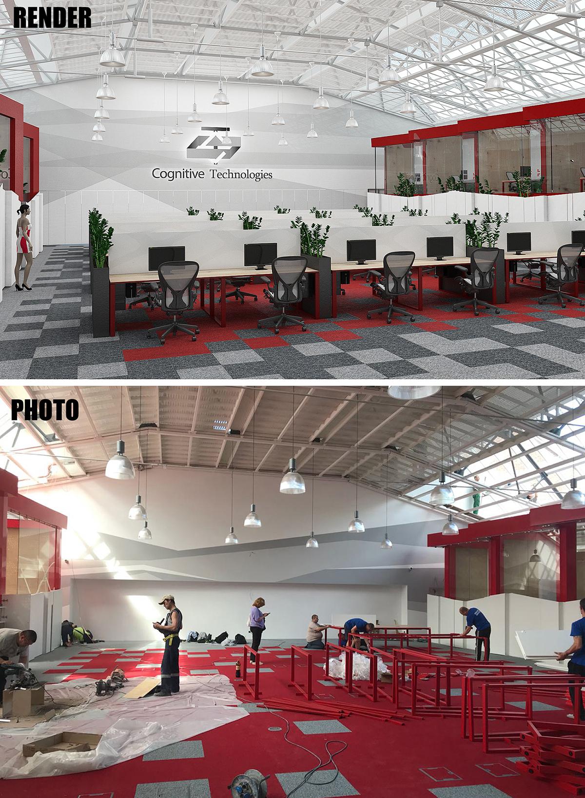 Проект и реализация офиса в Сокольниках (Москва)