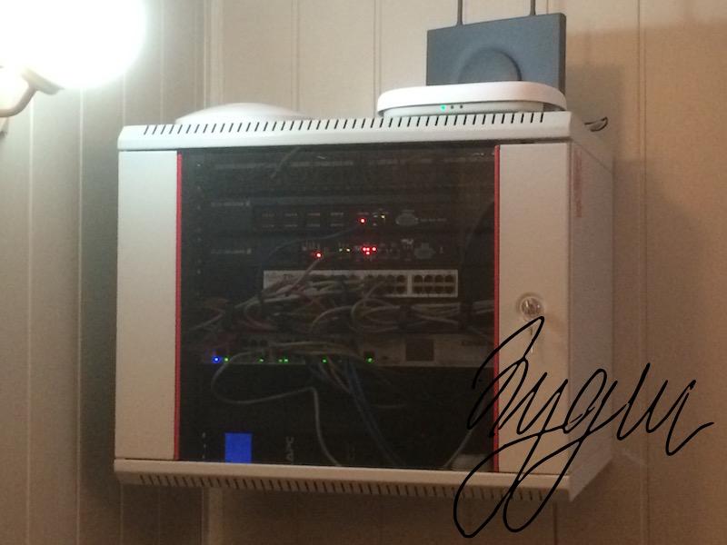 Монтаж шкафа СКС и установка сетевого оборудования