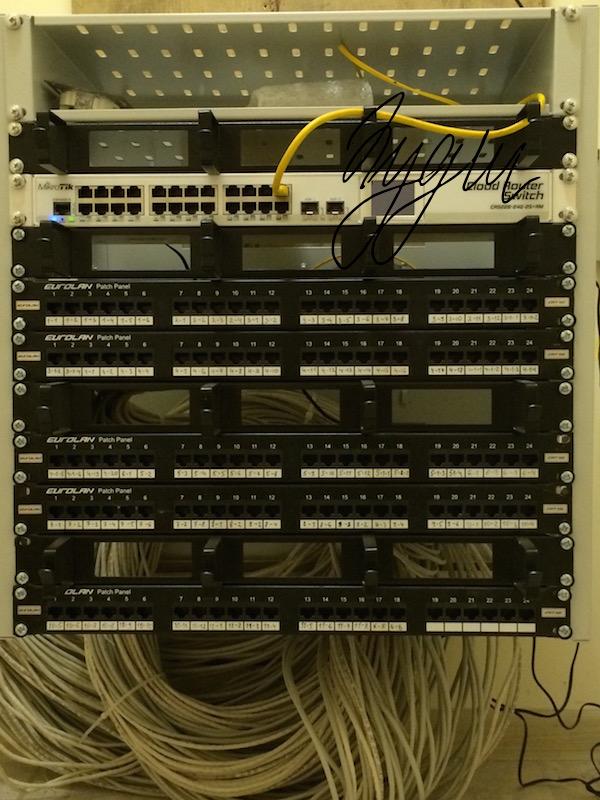 Монтажка офисной СКС в компактном исполнении