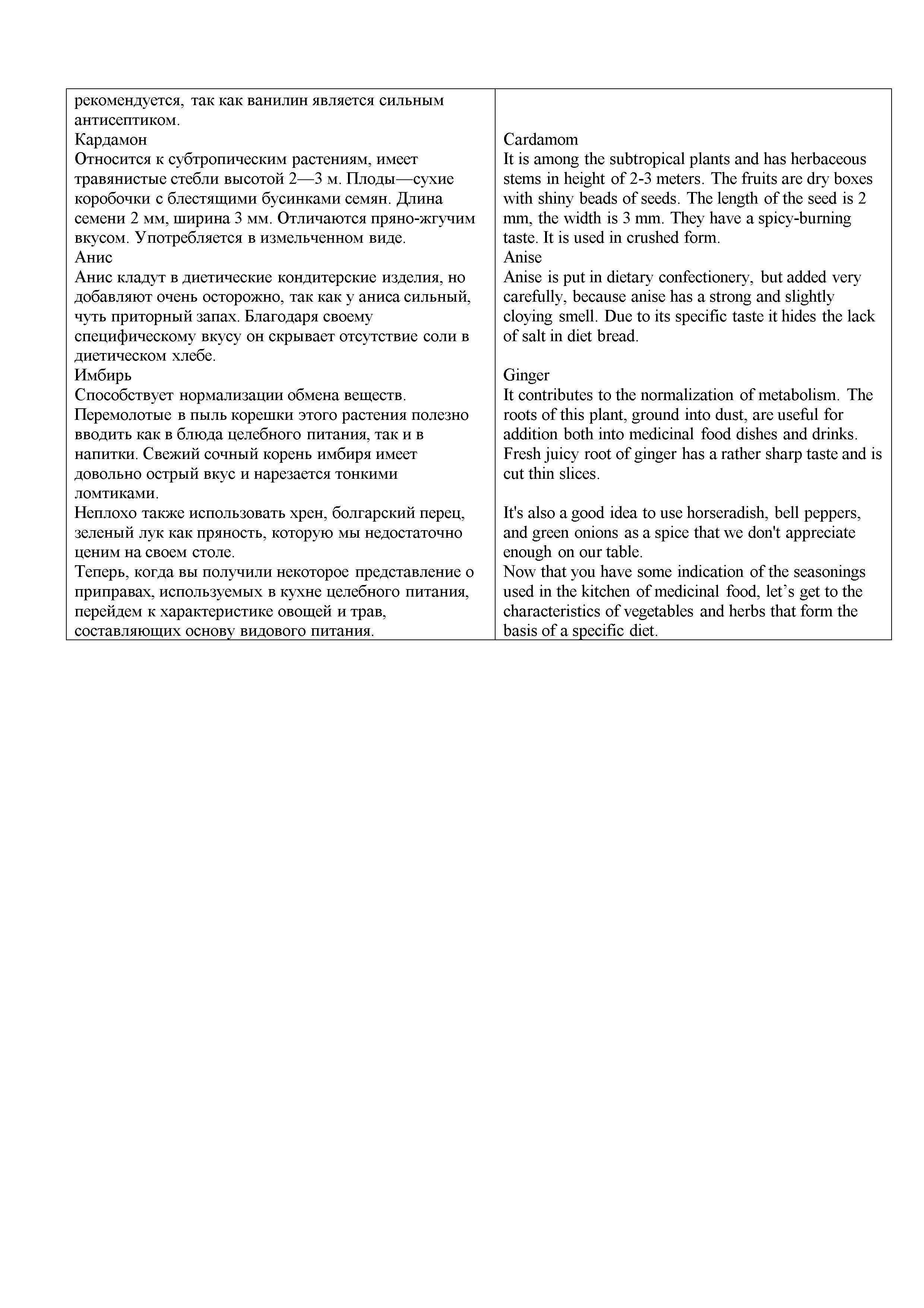 Перевод книги о правильном питании и здоровом образе жизни RUS-ENG