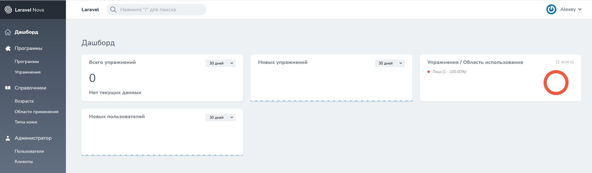 REST API для моб. приложения (Laravel) + админ. часть (Nova)