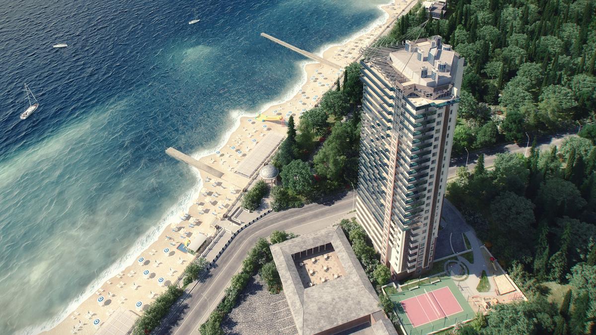 Жилой комплекс на побережье