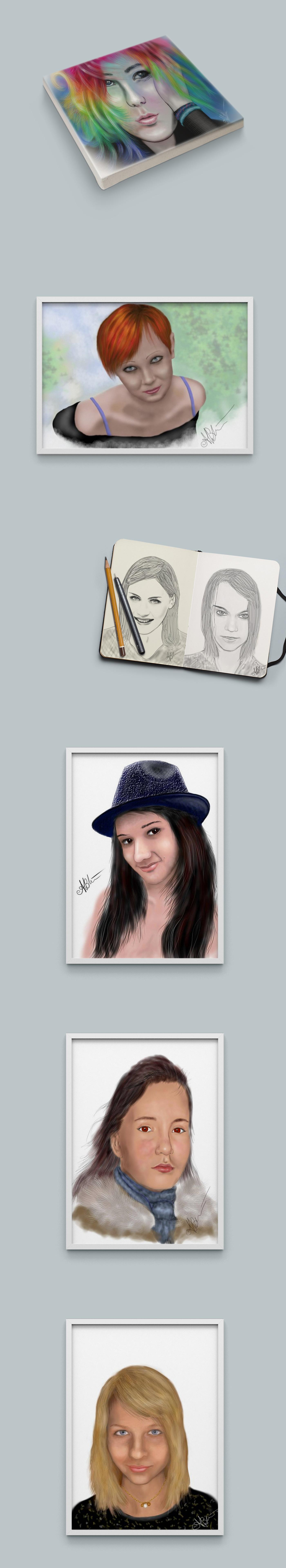 «Цифровые портреты» – рисунки