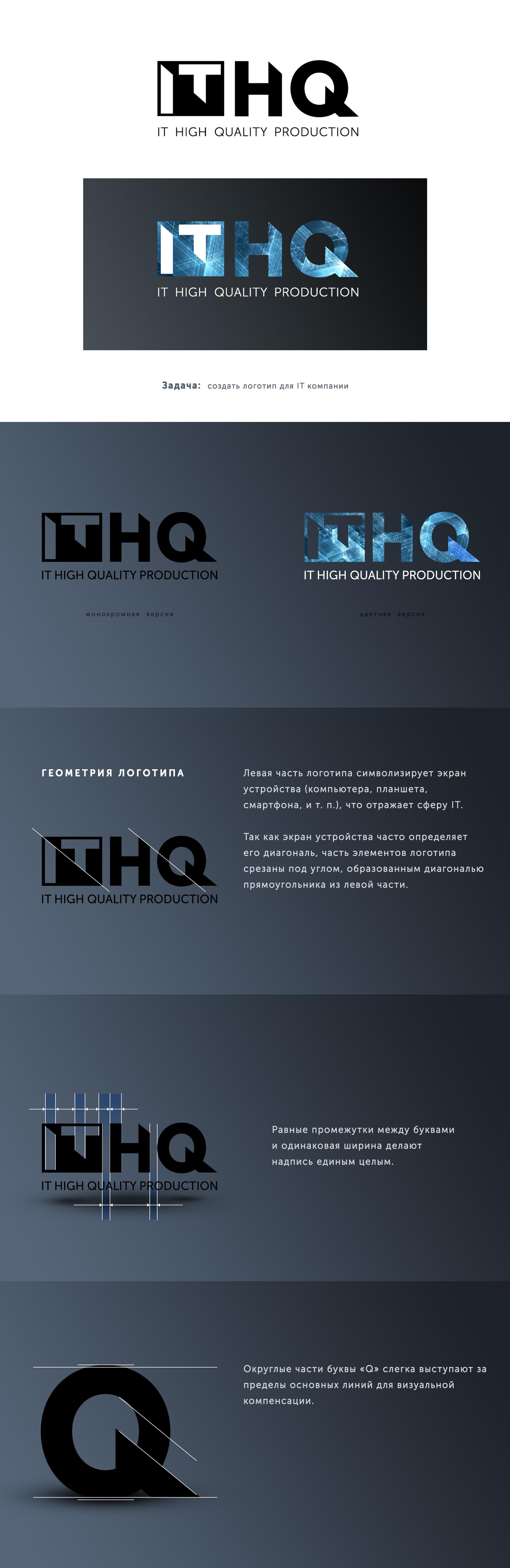«ITHQ» – логотип для IT компании