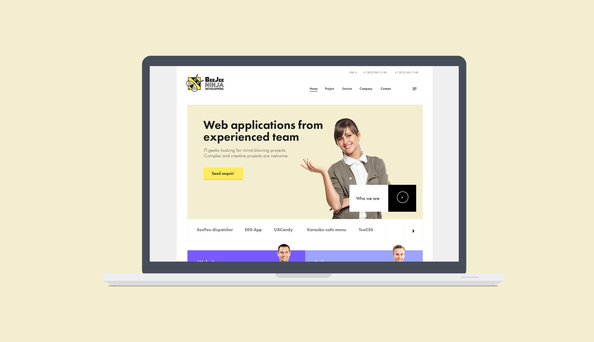 Концепт дизайна сайта в корпоративном стиле для IT компании фото f_202596d01743b8b6.png