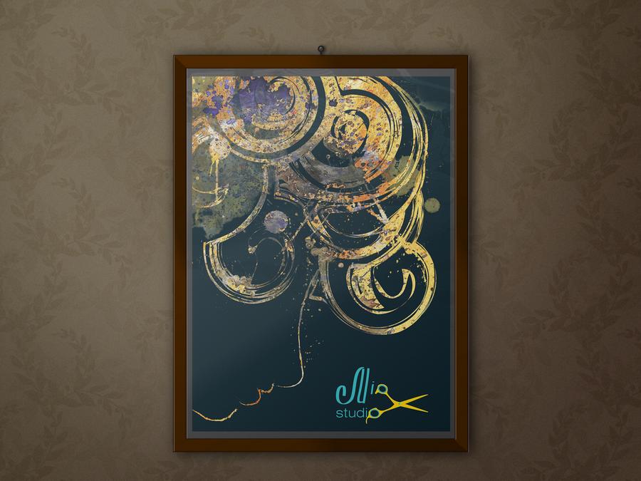 Постер для интерьера студии красоты