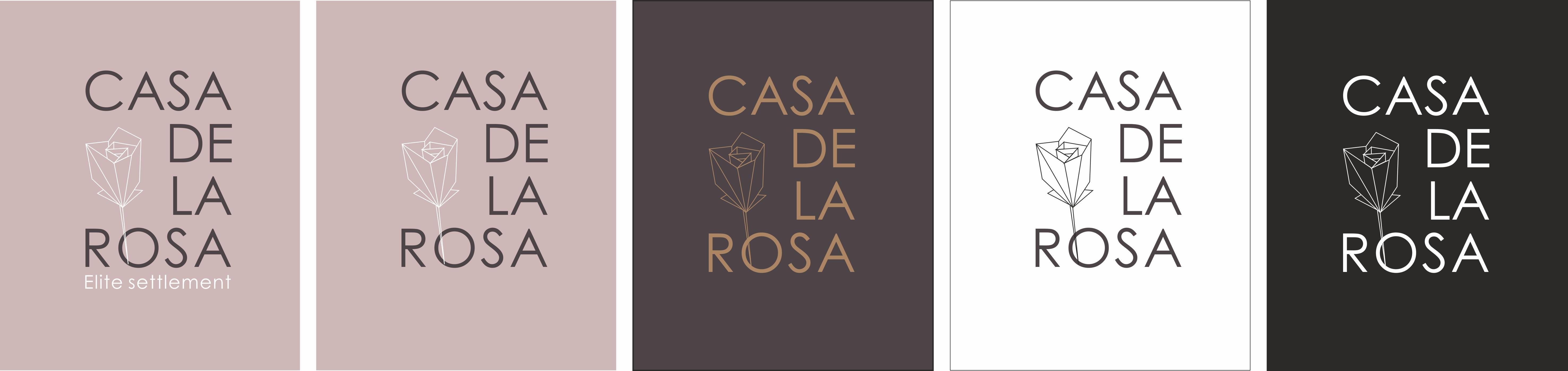 Логотип + Фирменный знак для элитного поселка Casa De La Rosa фото f_9415cd32b71bd289.jpg