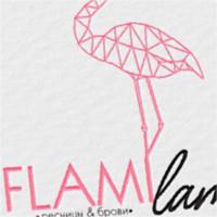 Flami Lami. Логотип для мастера по ресницам.
