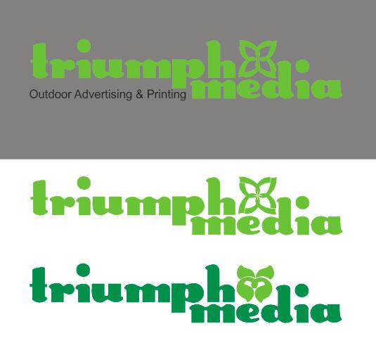 Разработка логотипа  TRIUMPH MEDIA с изображением клевера фото f_5070628d476b6.png