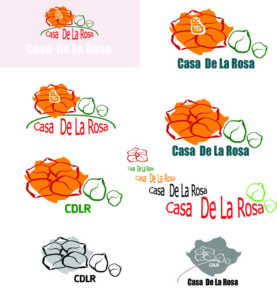 Логотип + Фирменный знак для элитного поселка Casa De La Rosa фото f_2145cd1f08c0b651.jpg
