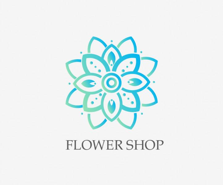 Логотип магазин цветов