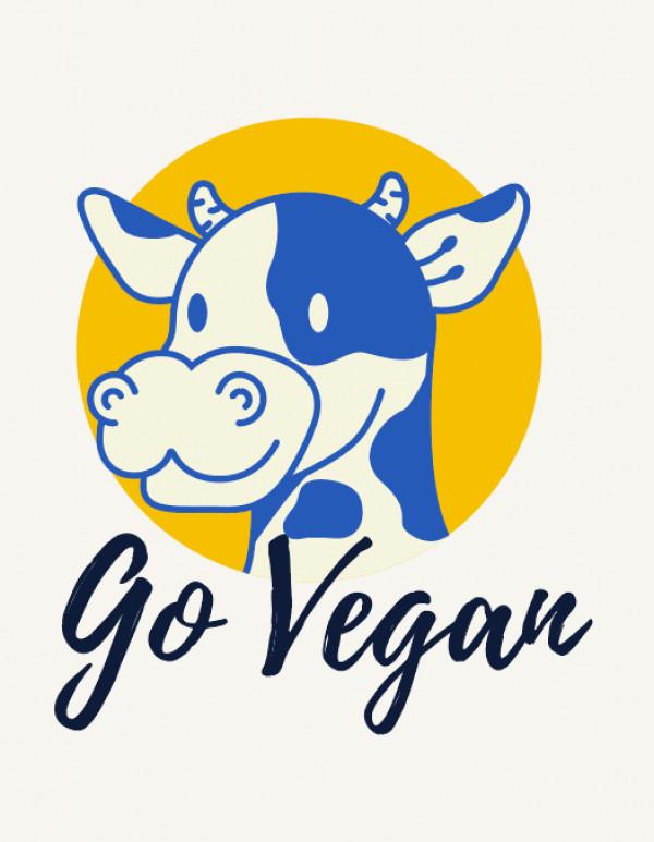 Стикер Go Vegan