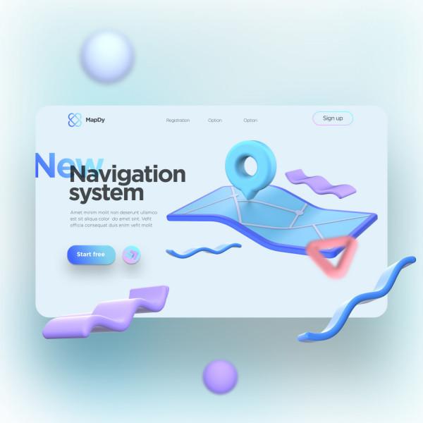Концепт первого экрана Navigation system
